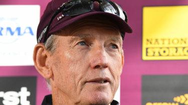 Mixed messages: Brisbane coach Wayne Bennett.