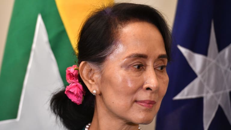 Myanmar's State Counsellor and civilian leader Aung San Suu Kyi.