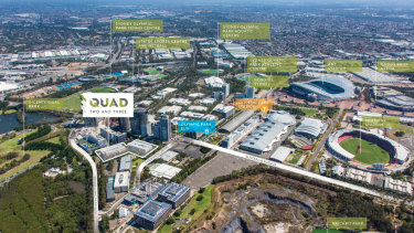 Growthpoint Australia has put its Quad 2 & 3 offices at Sydney Olympic Park on the market