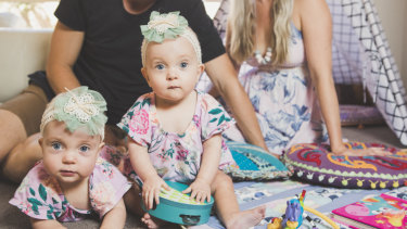 Dahli and India Greenhalgh spent three months in hospital after they were born.