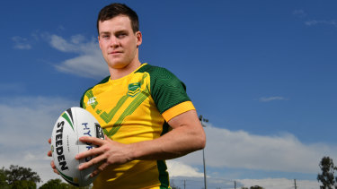 Hopping to it: Luke Keary is determined to make the most of a late call-up to the Kangaroos.