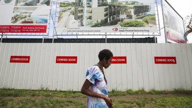 A JiangSu Provincial Construction Group building site in Port Vila, Vanuatu.