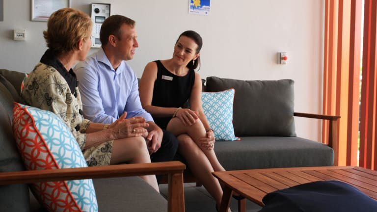 (From left) Metro North Hospital and Health Service board deputy chair Dr Kim Forrester, Health Minister Steven Miles and Member for Nudgee Leanne Linard.