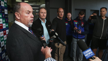 Explaining to do: Newcastle CEO Phil Gardner has been in damage control since Nathan Brown and the Knights parted company.