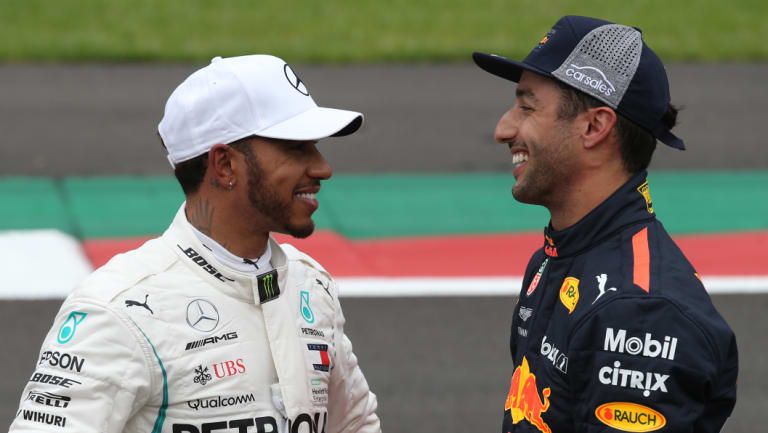 Lewis Hamilton (left) is on the cusp of another world title.
