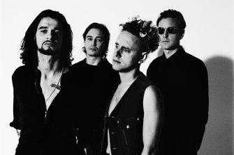 Depeche Mode in London, 1992: (l-r) Dave Gahan, Alan Wilder, Martin Gore and Andy Fletcher.