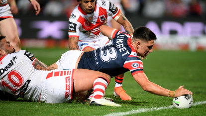 Roosters put on yet another masterclass against lowly Dragons