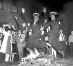 Celebrations in Woolloomooloo on August 15, 1945.