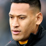 Taking a stand ... Israel Folau.