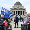 'We've stopped in silence 100 times': Old mates unite at Remembrance Day