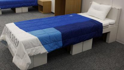 Athletes at Tokyo Olympics will sleep on cardboard beds