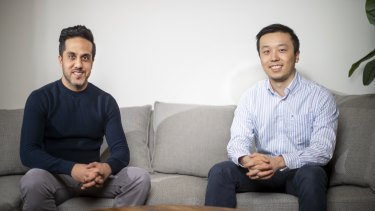 Snapcommerce founders Hussein Fazal and Henry Shi.