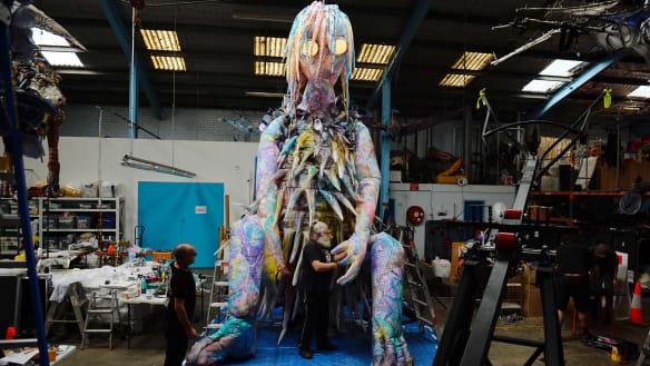 How to keep Vivid Sydney's 600-kilogram puppet on her feet