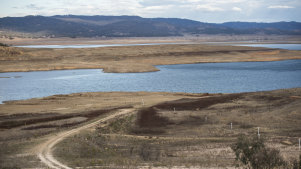 Burrendong Dam, which supplies water to the Macquarie River is currently hovering at just over 4 per cent full.