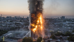 Flammable cladding fuelled London's Grenfell Tower blaze in 2017, in which 72 people died.