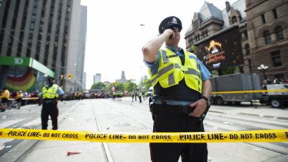 Four shot, two arrested at Raptors parade