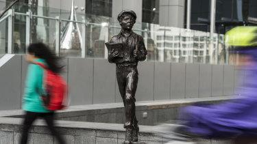 The James Martin statue in Parramatta, unveiled in 2018.