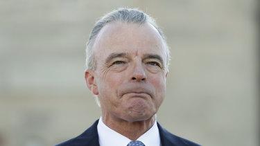 Australian War Memorial director Brendan Nelson told senators he seeks donations from weapons companies.