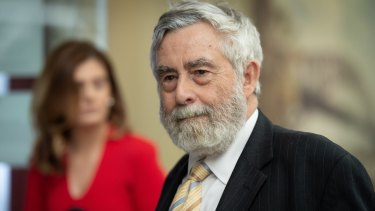 Former District Court judge Michael Finnane QC. who has quit as president of the board of the Construction Industry Drug & Alcohol Foundation.