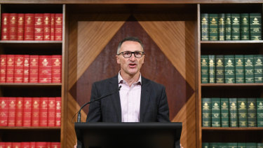 Greens leader Richard Di Natale wants his party to develop a Green New Deal in time for the next federal election.
