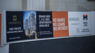 Merhis is the developer behind the Imperial apartment complex in Parramatta.