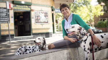Dog owner Caroline Alcorso said there were occasions when she wanted to visit a pub with her Dalmatians.