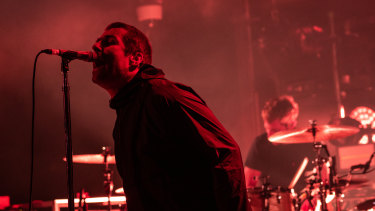 Liam Gallagher brought the crowd together with the Oasis hit Wonderwall.