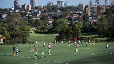 Northbridge Oval, on Sydney's north shore, is a synthetic sports ground which can be raised and lowered hydraulically to cater to both cricket and soccer.