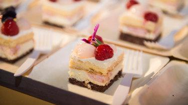 Black Star Pastry's raspberry-lychee cake.