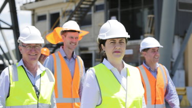Premier Annastacia Palaszczuk visit's Townsville's port on Wednesday