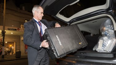 AFP officers removed shredded documents and other evidence from the AWU offices in Sydney in 2017.