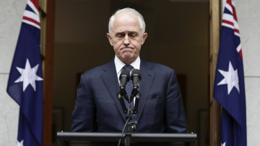 Prime Minister Malcolm Turnbull addresses the media on Thursday.