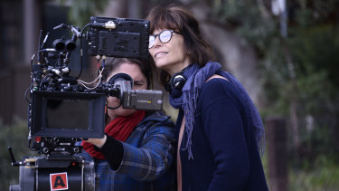 DOP Bonnie Elliott and director Rachel Ward.