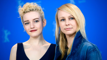 Julia Garner and Kitty Green at the Berlin Film Festival in February.