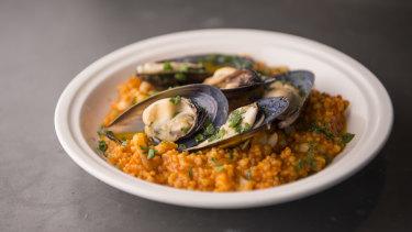 Fregola, calamari and mussels at Totti's.