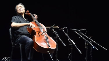 Yo-Yo Ma in action.