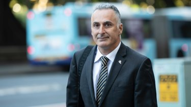 Drummoyne MP John Sidoti departs ICAC.