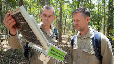 QUT Professor Paul Roe (left) is leading a team of scientists establishing the Australian Acoustic Observatory.
