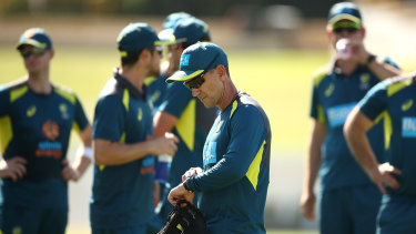 'Where memories are made': Justin Langer with the Australian team at the WACA.