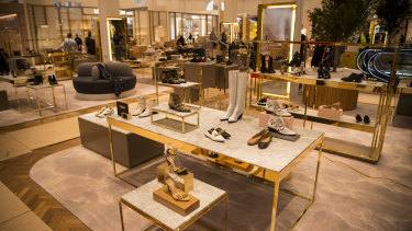 The new David Jones shoe floor features 85 brands.
