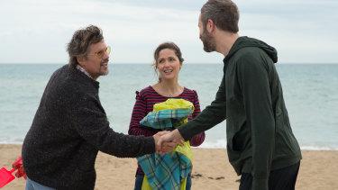 Hawke, Rose Byrne and Chris O'Dowd in Juliet, Naked.