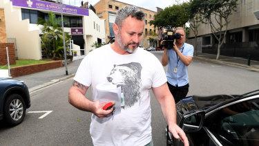 Adam Magill outside Brisbane Magistrates Court on Monday.