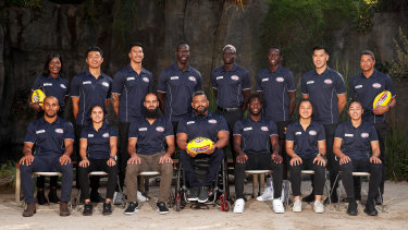 The AFL's multicultural ambassadors for 2020, from all levels of footy, including Bachar Houli, Aliir Aliir, Darcy Vescio and Haneen Zreika.
