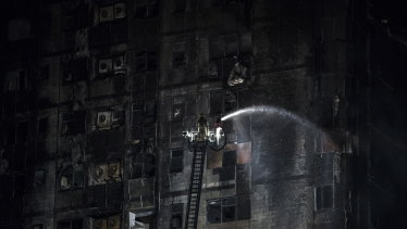The Abbco Tower after the fire.