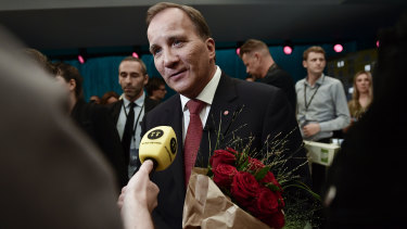 Swedish Prime Minister Stefan Lofven of the Social Democratic Party.