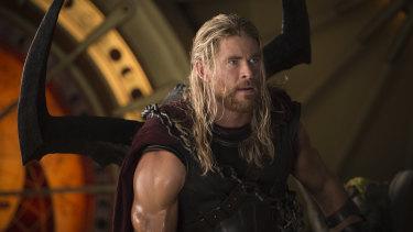 Chris Hemsworth in Thor: Ragnarok.