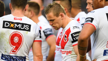 Under scrutiny: Dragons fullback Matt Dufty.