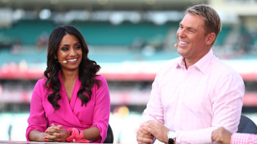 Isa Guha and Shane Warne are assets to the Big Bash League commentary teams.