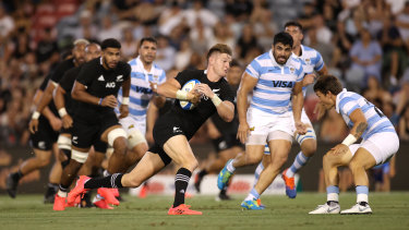 Jordie Barrett was a constant menace for the All Blacks.