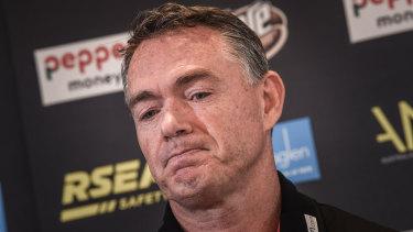 Alan Richardson at press conference.